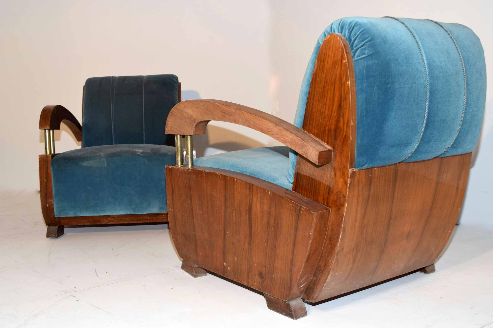 Sessel Art Deco Art Deco Sessel Paar Nussbaum B90xh88xt90 Panthers Woods