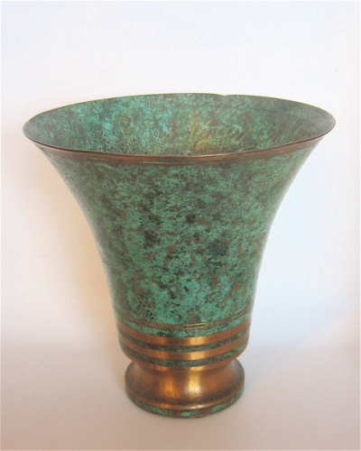 Boch Vase 1920s Art Deco Bronze Vase • Signed By Carl Sorenson