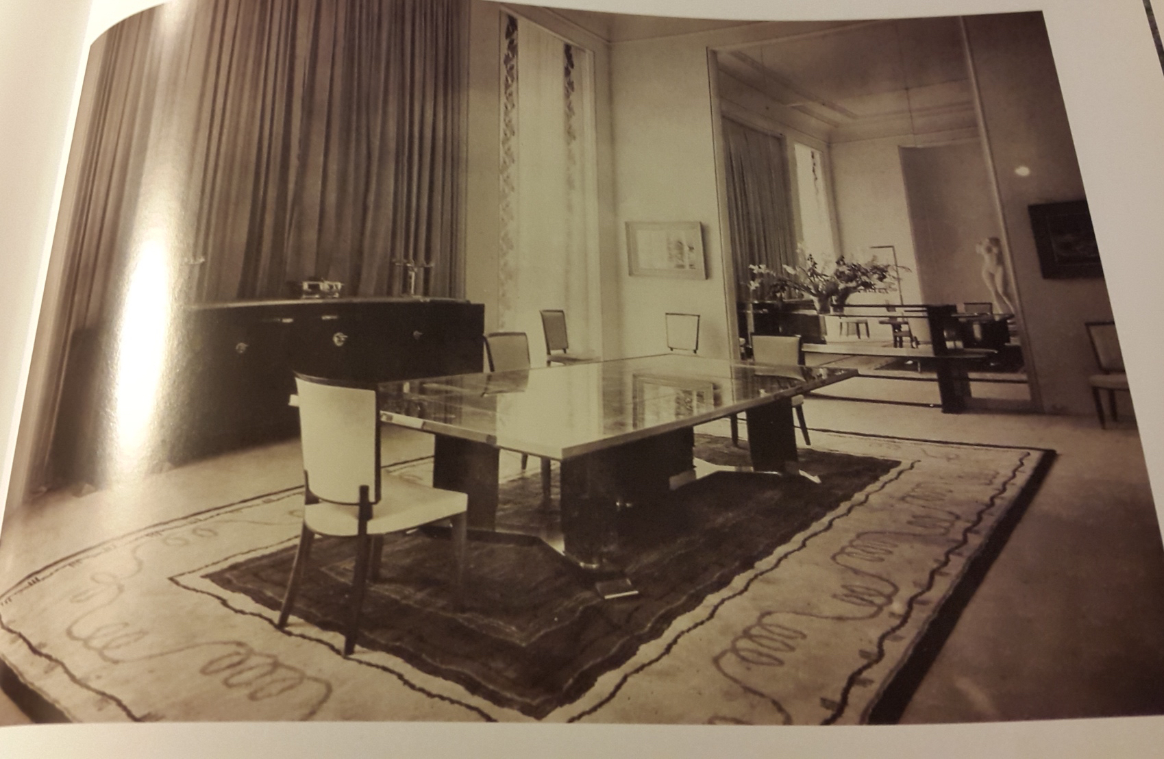 Salon Art Et Deco Paris Jules Leleu Dining Room Table Chairs 1937 Paris Exhibition