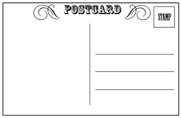 Blank Postcard Template Word – Word Postcard Templates