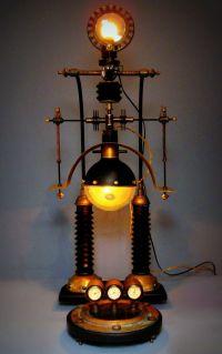 """Steampunk Weather Station"" Steampunk Lamp - Art Donovan ..."