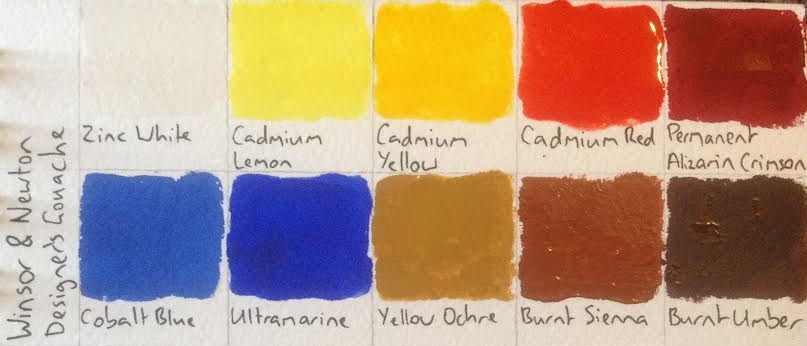 Gouache Winsor and Newton Designers Gouache (review) artdragon86