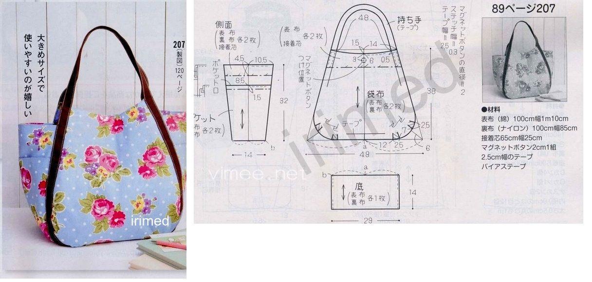 Bolsa Em Tecido Moldes : Bolsa e molde arte com tecidos