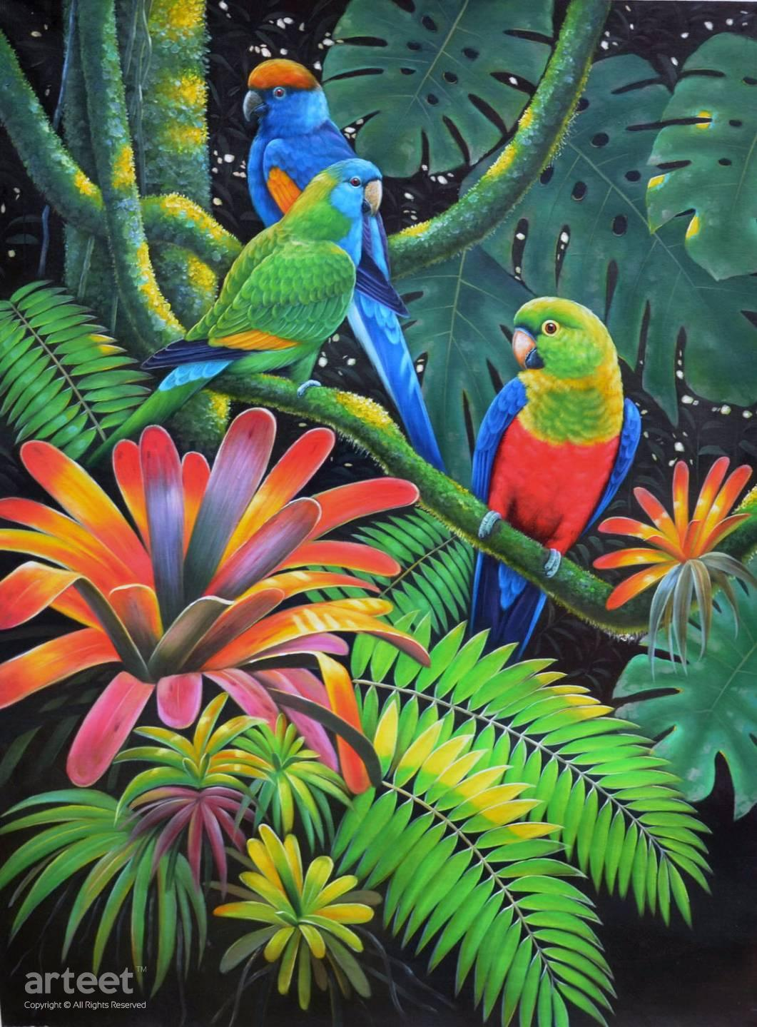 Tropical Artwork Jungle Junction Art Paintings For Sale Online Gallery