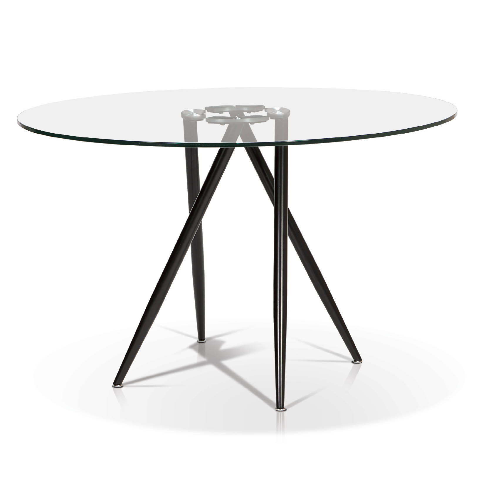 Round Glass Dining Table Tables Dining Tables Kr T1503 Round Glass Top Dining