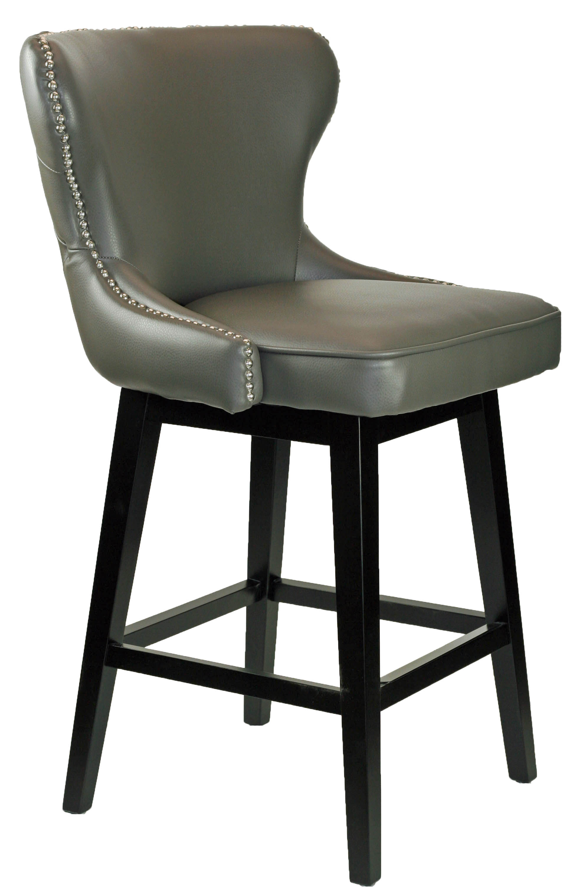 Kitchen Counter Swivel Chairs Bar Stools And Kitchen Counter Stools R 8707 Grey Leather