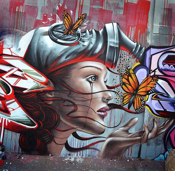 Impresionantes graffitis de destroy arte feed for Graffitis para ninos