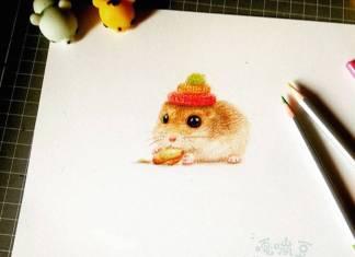 dibujos de animales tiernos hamster