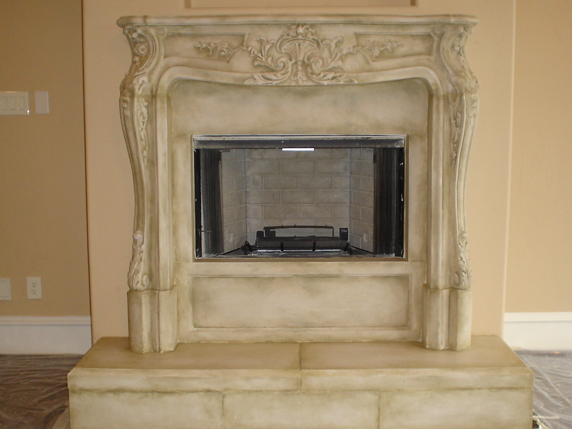 Arteffectsinc Cast Stoneapplying An Application To Your Cast Stone Fireplace Or Vent Hood Is Decorative And Also Adds A Protective Layer To This Very Absorbent Material Any Color Can Be Applied