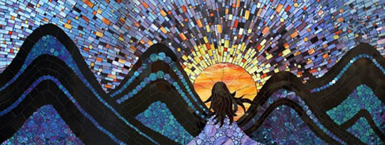 Featured artist Kasia I. Polkowska's Contemporary Stained Glass Mosaics