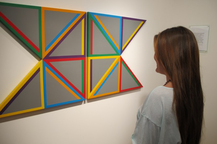 gray triangle - Urethane, Acrylic 30x61 inches