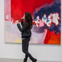Red is hot at Petzel Gallery at Thomas Eggerer opening reception