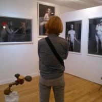 John Francis surveying his art at Verge photo by OL