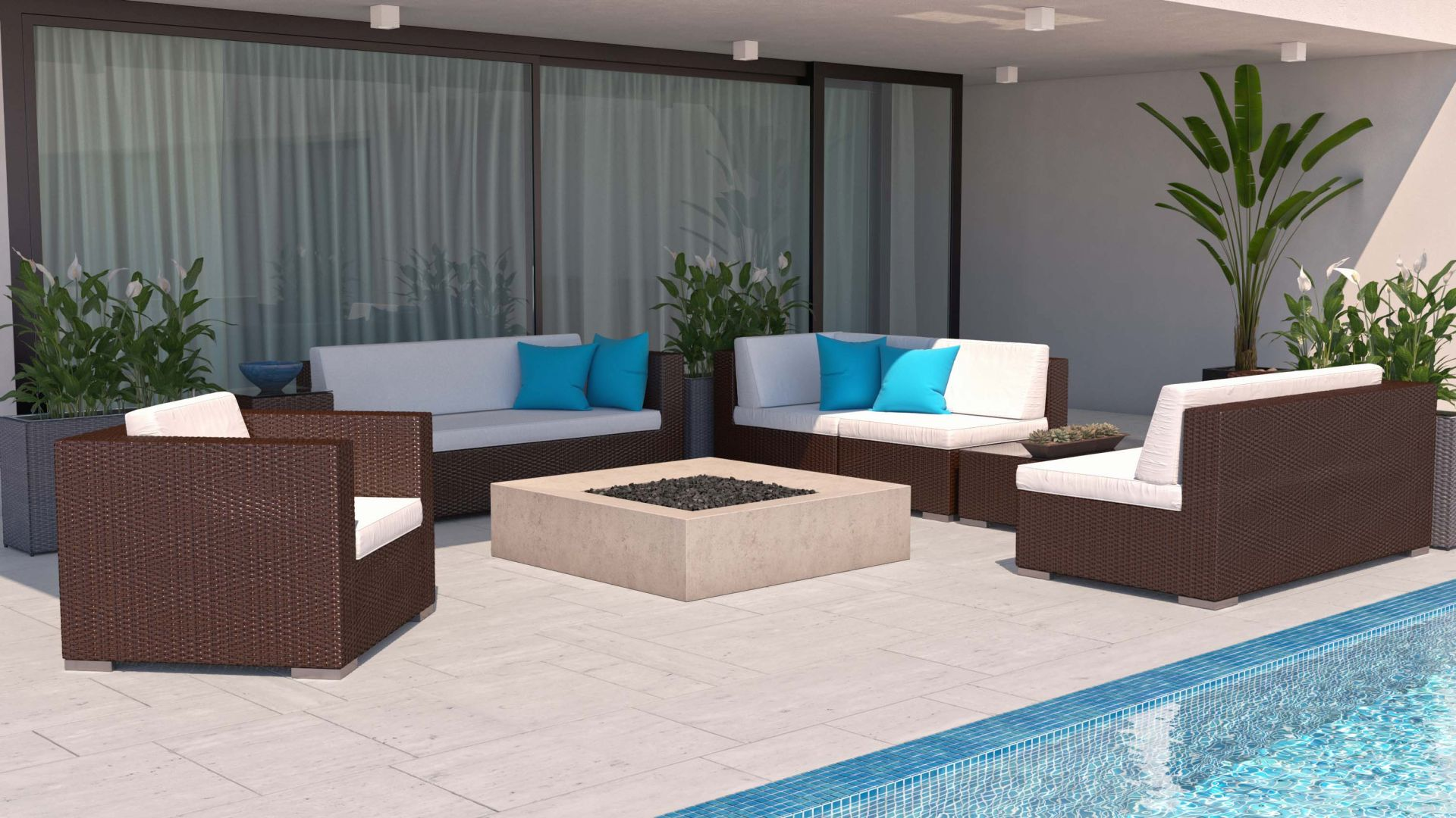 Salon De Jardin Artelia Artelia | Order Low Priced Rattan Sofa Suite Epona L For
