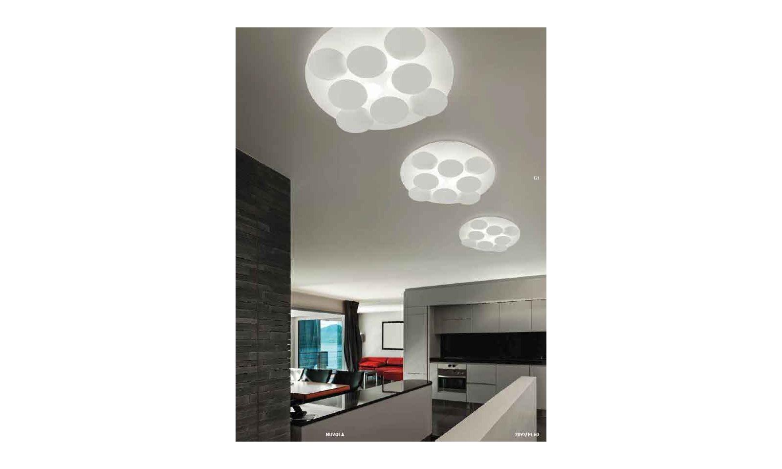 Plafoniere A Led Per Camerette : Plafoniera nuvola lampada mozia fontanaarte diffusore vetro