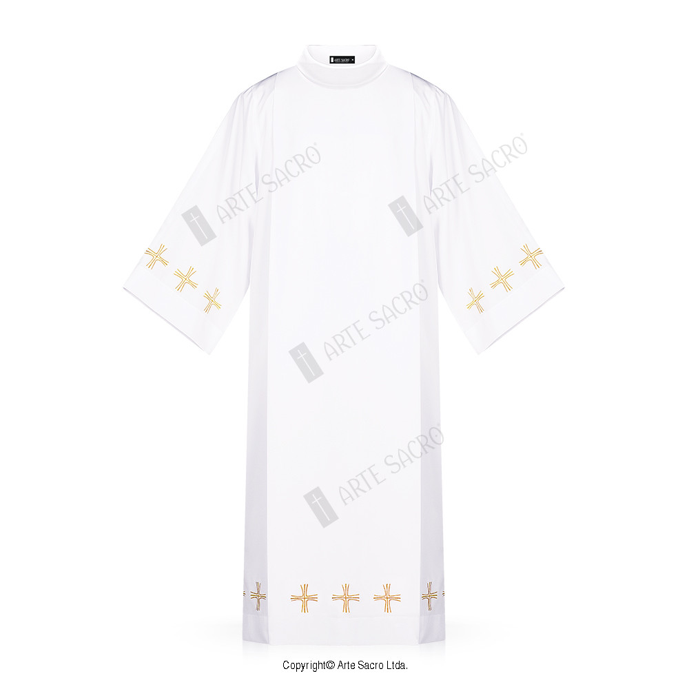 Arte Sacro Tunicas Cross Singela Alb Arte Sacro Liturgical Vestments And Metals