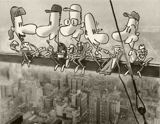 Dibujo para mural de empresa de la construcción