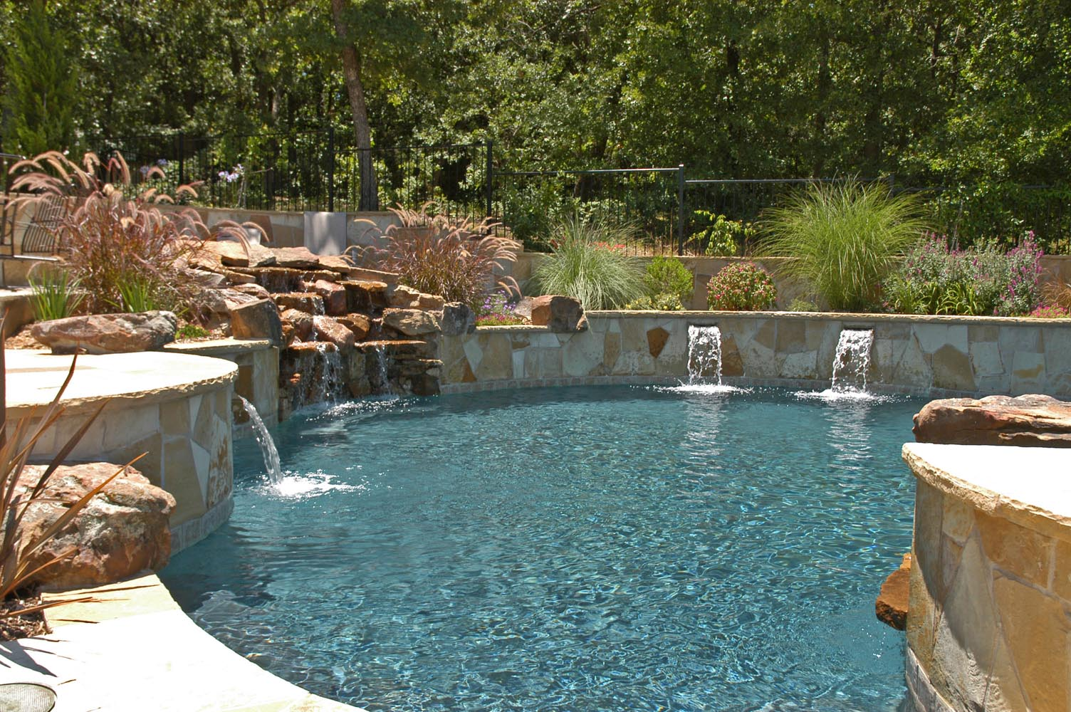 Living Pool Freeform Pools Photo Gallery, Custom Pools Images, Dallas