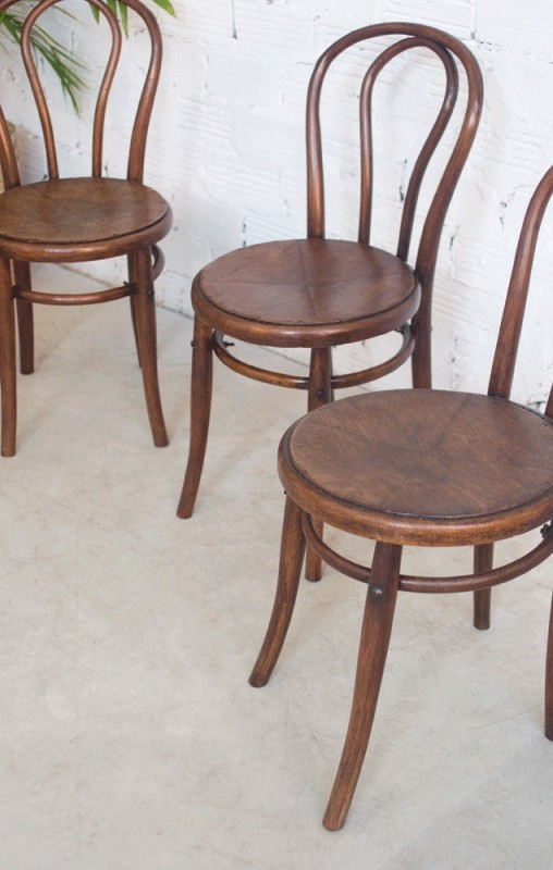 Chaises Annees 50 Chaises Vintage, Thonet, Luterma, Chaise Bistro, Bistrot