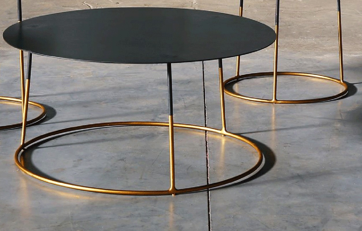 Table Basse En Metal Metal Coffee Table Atole Gold 70 Cm