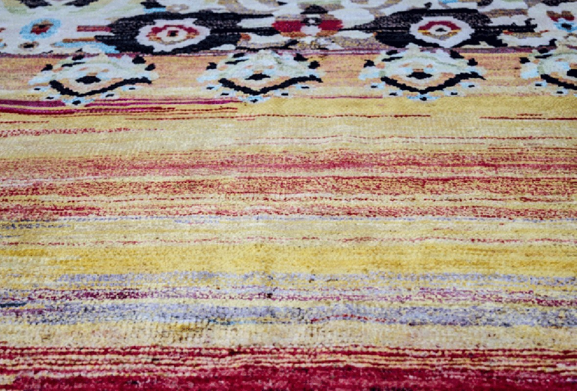 Magnificent Rug Of Indian Origins Named - Tapis Indien
