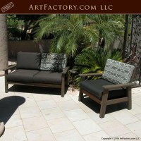 Custom Wood Patio Furniture: Handmade Chair And Loveseat Set