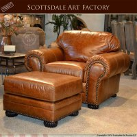 Traditional Custom Leather Sofa and Chair Set - Custom ...