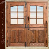 Solid Wood Double Dutch Entry Doors - Custom Exterior ...