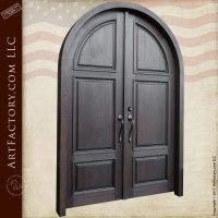 Arched European Villa Double Doors - Custom Solid Wooden Doors