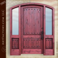 Custom Arch Grand Entry Door - Handcrafted with Side Lights