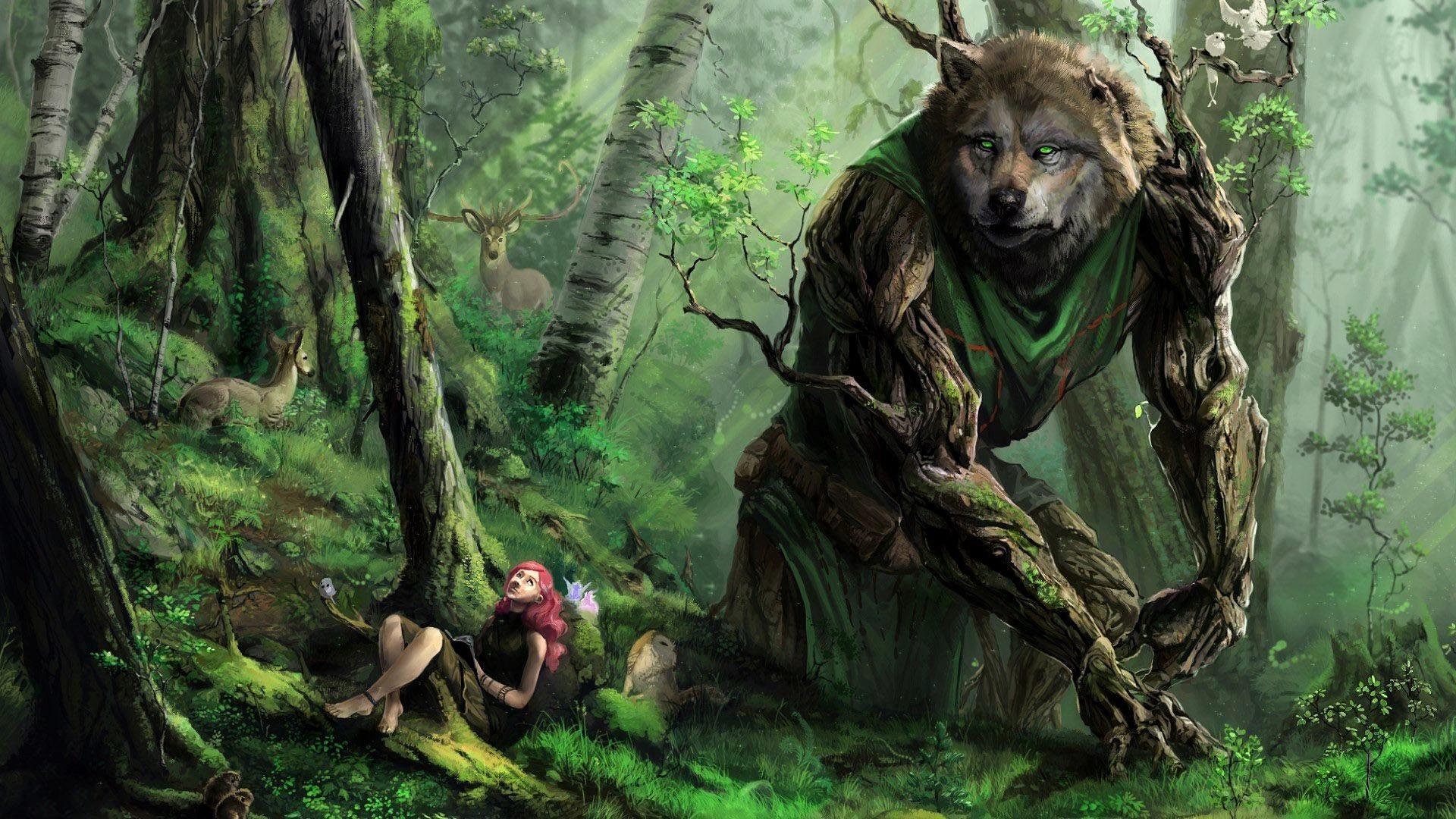 Fall Woodland Creatures Wallpaper Big Bad Wolf Art Id 108070 Art Abyss