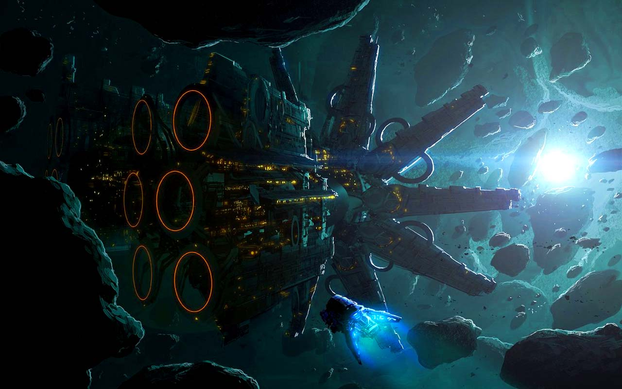Wipeout Hd Wallpaper Asteroid Mining Art Id 21688 Art Abyss