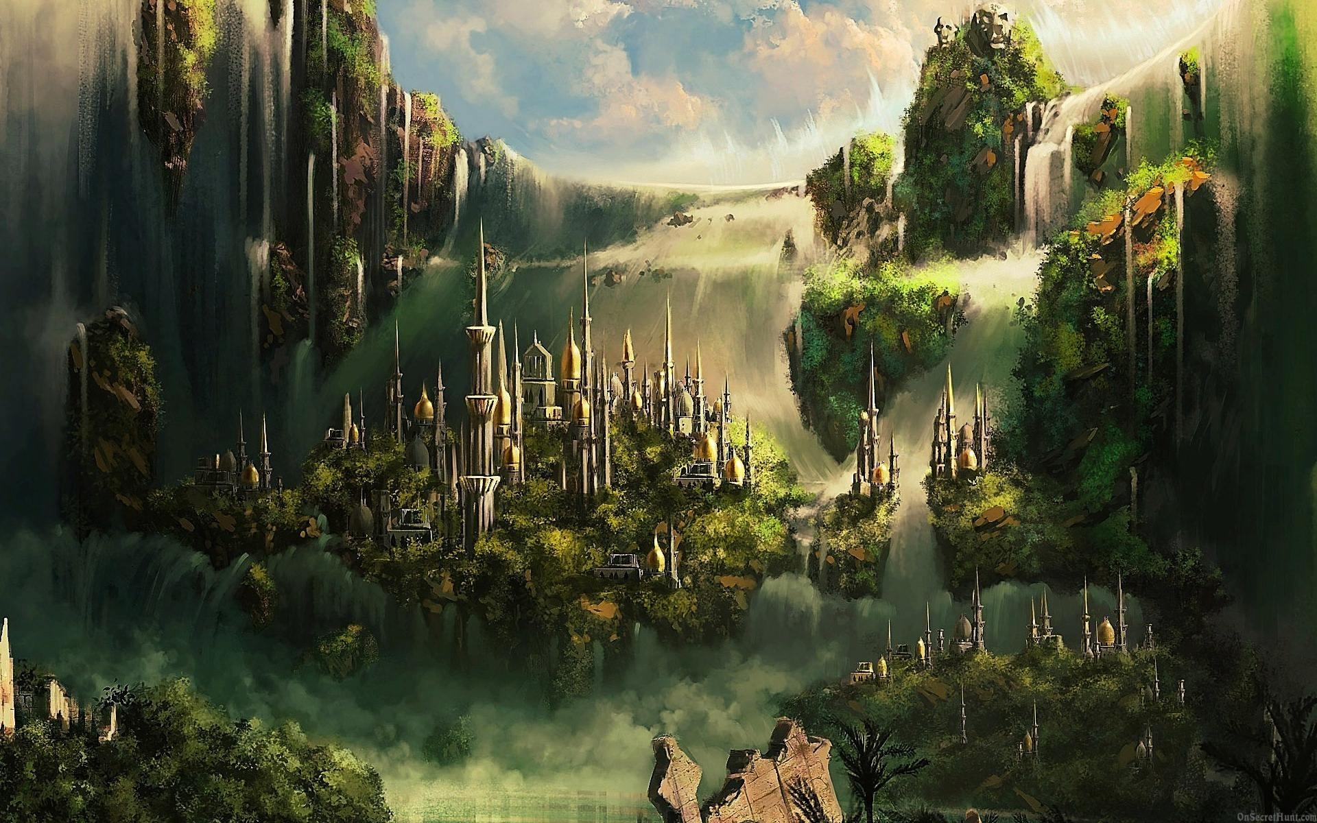 Hi Def 3d Wallpaper Fantasy City Art Id 89447 Art Abyss