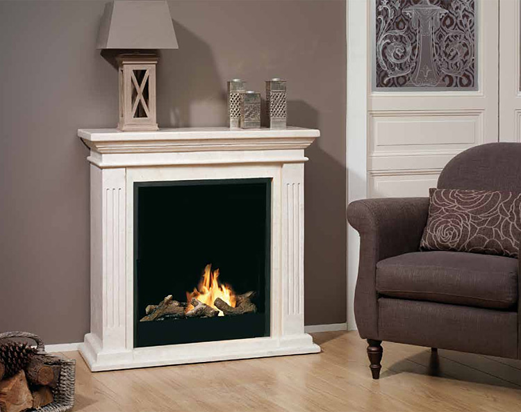 Electric Fireplace Ruby Fires Cadiz Fossil Stone