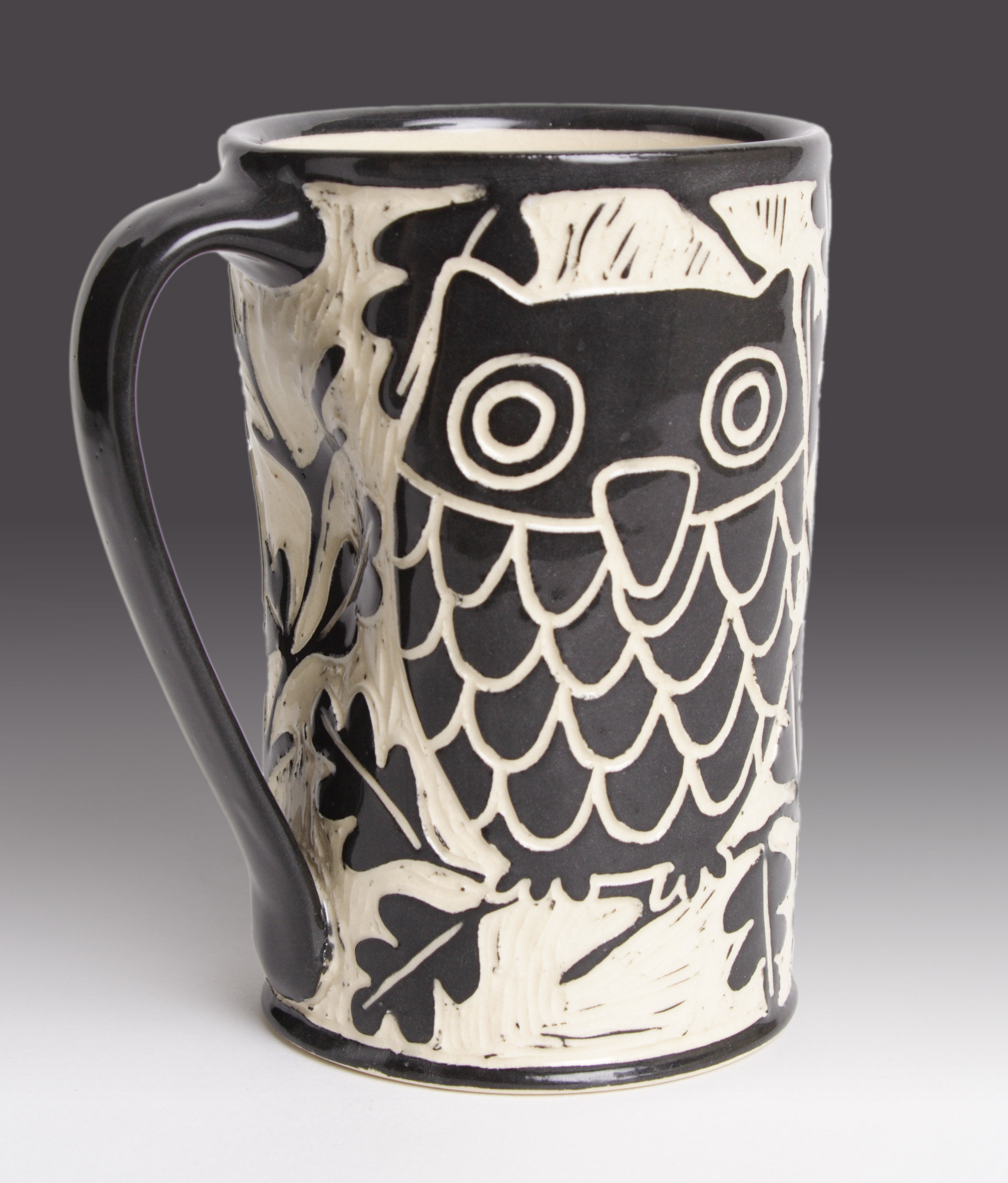 Owl Ceramic Mug Owl Mug By Jennifer Falter Ceramic Mug Artful Home