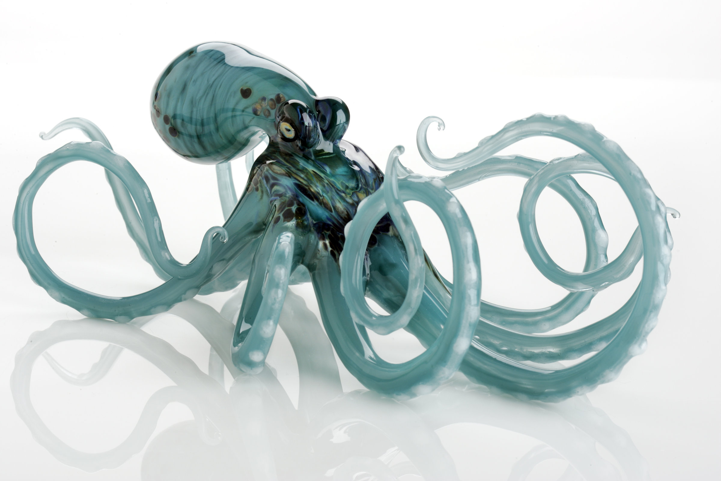 Octopus Glasses Octopus In Aqua By Jennifer Caldwell And Jason Chakravarty