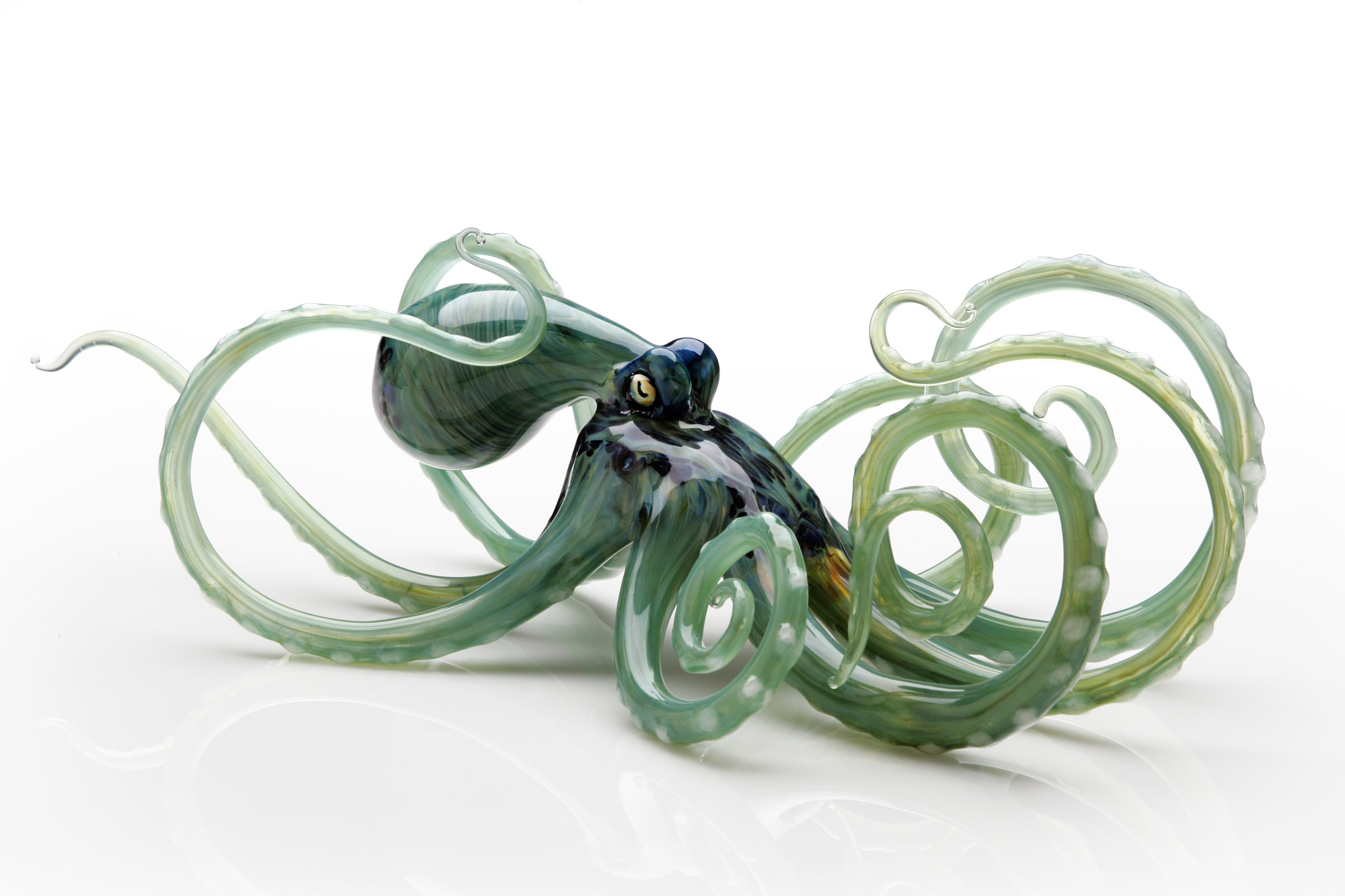 Octopus Glasses Octopus In Seagreen By Jennifer Caldwell And Jason