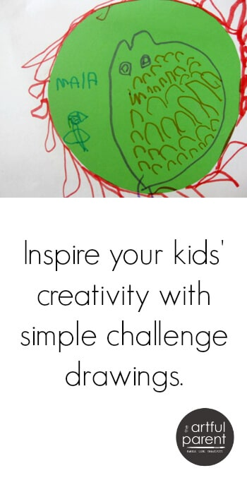 Inspire your kids creativity with challenge drawing activities and papers