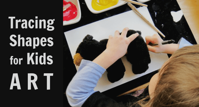 Tracing Shapes for Kids Art