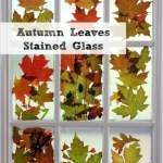 Autumn Leaves Stained Glass