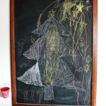A Christmas Tree Drawing and Some Chalkboard Love