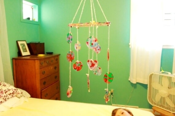Melted Bead Suncatcher DIY Baby Mobile