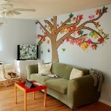 Brown Paper Autumn Tree for the Living Room