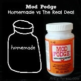Mod Podge Homemade vs The Real Deal