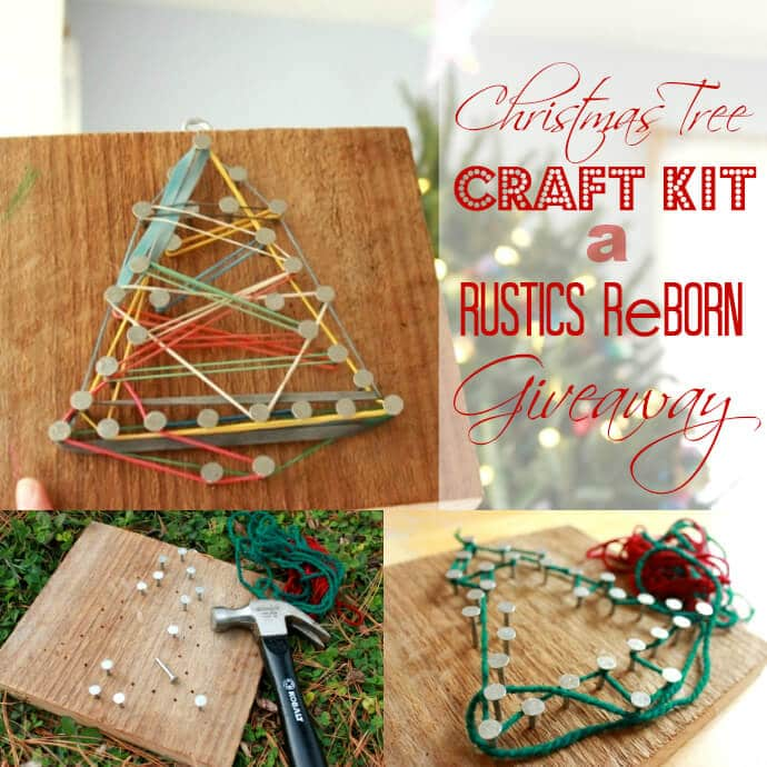 A Christmas Tree Craft Kit Giveaway by Rustics Reborn