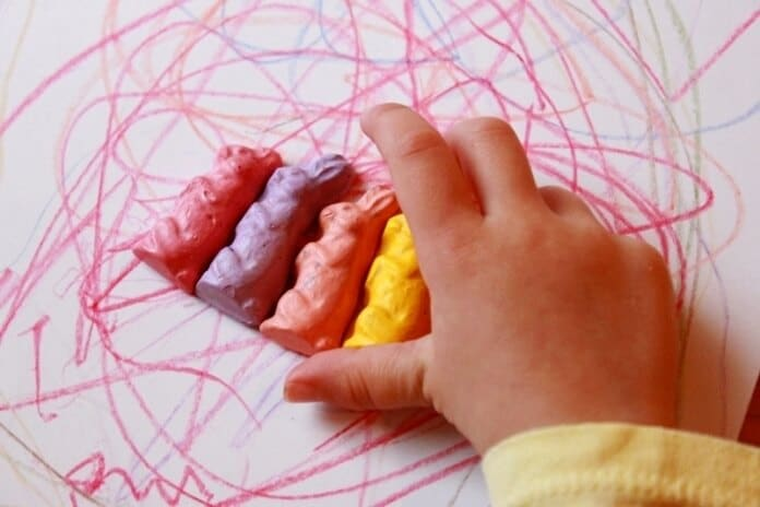 Shaped Crayons Creative Drawing for Kids 10