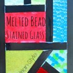 Melted Bead Stained Glass in Frames — Mondrian-Style!