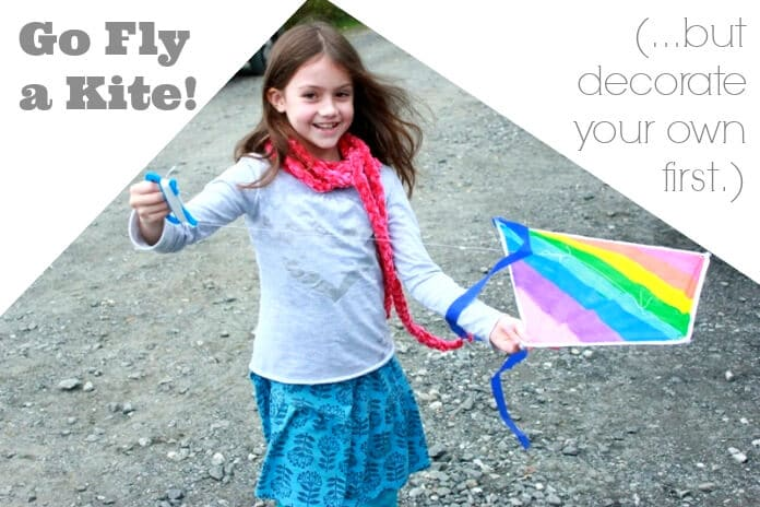 Decorate Your Own Kites -- a fun art activity for kids to be followed by quality active time outside!