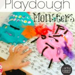 Playdough Monsters (And Other Fun Ideas with Poke-Ins)
