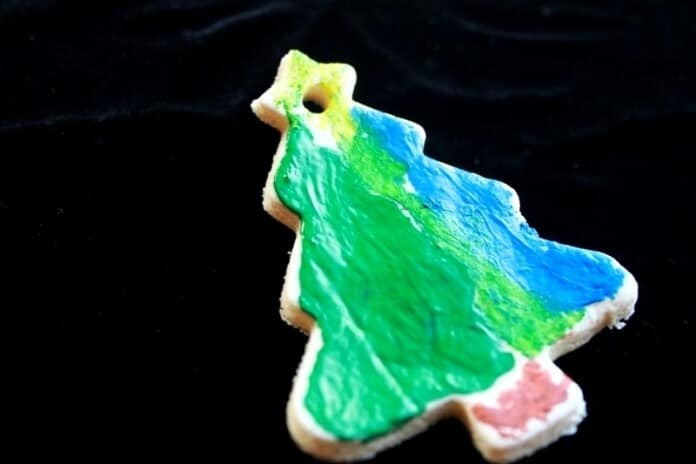 Melted Crayon Salt Dough Ornaments 25